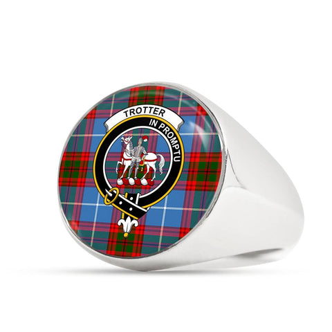 Image of Trotter Tartan Crest Ring Th8