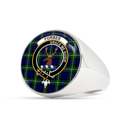 Forbes Modern Tartan Crest Ring Th8