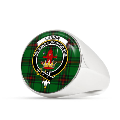 Lundin Tartan Crest Ring Th8