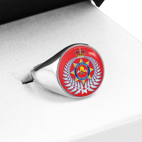 New Zealand Firefighter Crest Ring K4