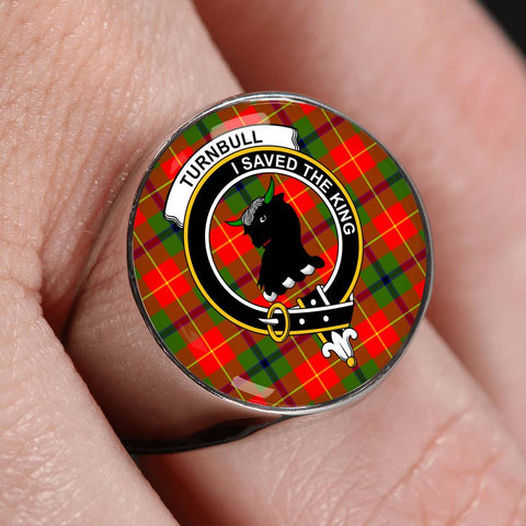 Image of Turnbull Tartan Crest Ring Th8