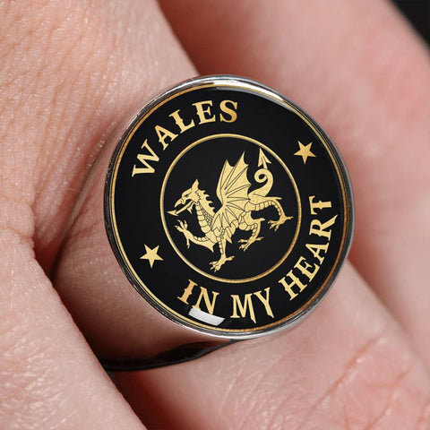 Wales In My Heart Gold/Silver Ring | Special Custom Design