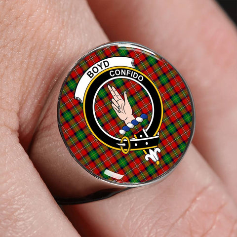 Boyd Ancient Tartan Crest Ring Th8