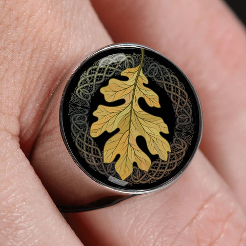 Image of Leaf Celtic Crest Ring ,Leaf Celtic Ring, Celtic Ring, ring, celtic