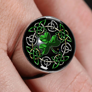 Celtic Shamrock Gold/Silver Ring | Hot Sale | Ireland Shamrock