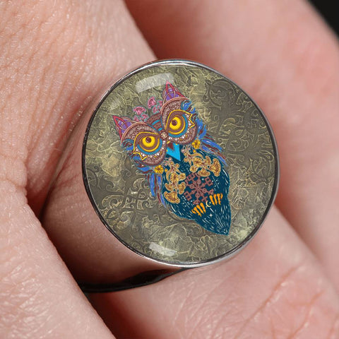 Owl Celtic Crest Ring,Owl Celtic ring,Owl Celtic, owl ring,celtic ring,ring