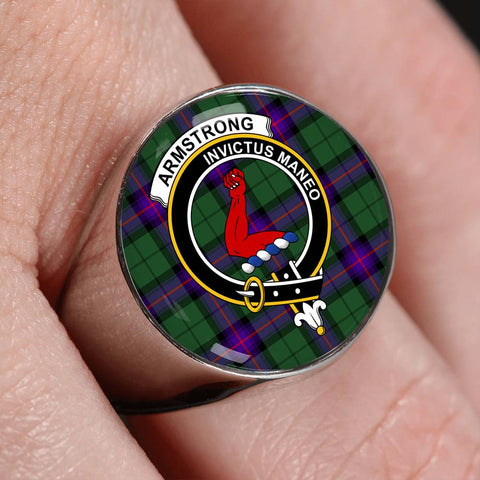 Armstrong Modern Tartan Crest Ring Th8