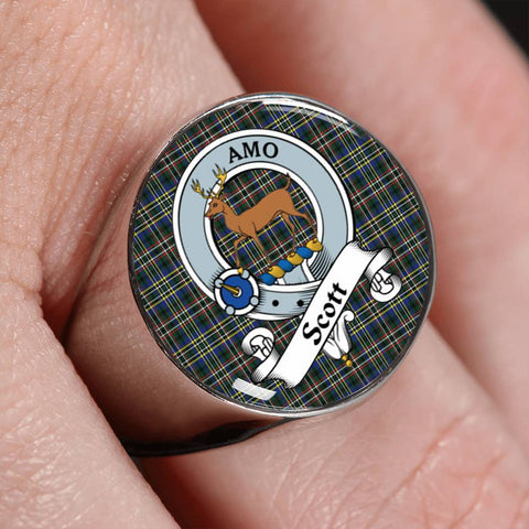 Scott Tartan Crest Ring Th8