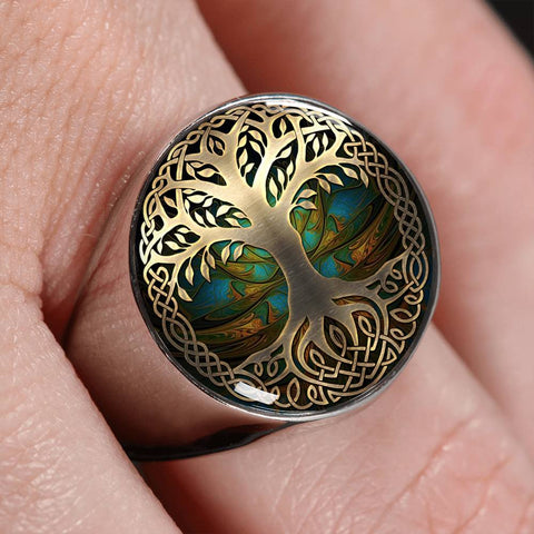 Celtic Gold/Silver Ring - Luxury Golden Celtic Tree | HOT Sale