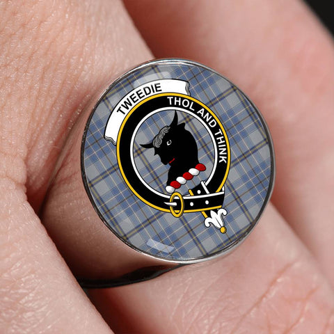 Tweedie Tartan Crest Ring Th8