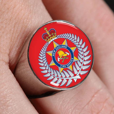 Image of new zealand fire service, new zealand fire, ring, rings, crest ring, jewelry, jewelries, online shopping, accessories, accessory, cyber monday, black friday, new zealand ring, firefighter ring, 1sttheworld, firefighting crest