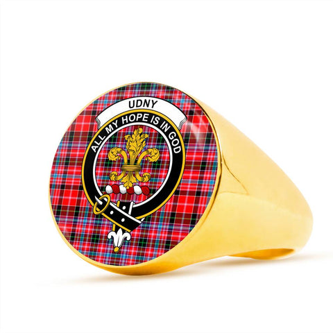 Udny Tartan Crest Ring Th8