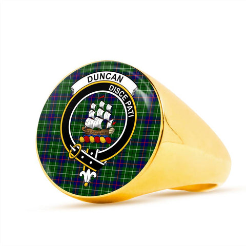 Image of Duncan Tartan Crest Ring Th8