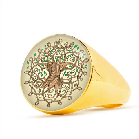 Celtic Jewelry - The Tree Of Life Silver (Golden) Rings A9