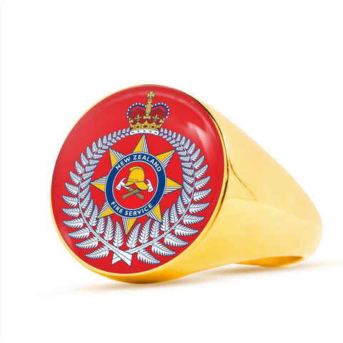 Image of new zealand fire, ring, rings, crest ring, jewelry, jewelries, online shopping, accessories, accessory, cyber monday, black friday, new zealand ring, firefighter ring, 1sttheworld, firefighting crest, new zealand fire service