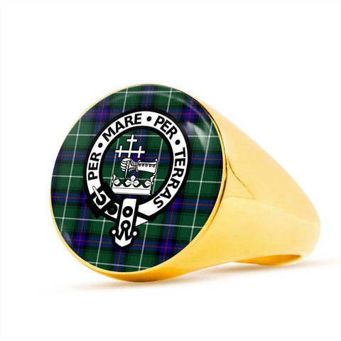 MacDonald of the Isles Tartan Crest Ring Th8