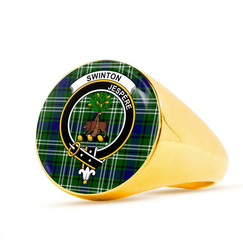 Swinton Tartan Crest Ring Th8