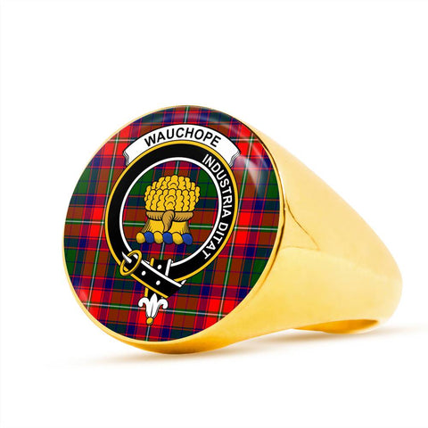 Wauchope Tartan Tartan Crest Ring Th8