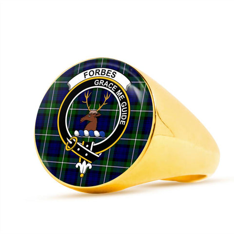 Image of Forbes Modern Tartan Crest Ring Th8