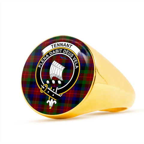 Tennant Tartan Crest Ring Th8