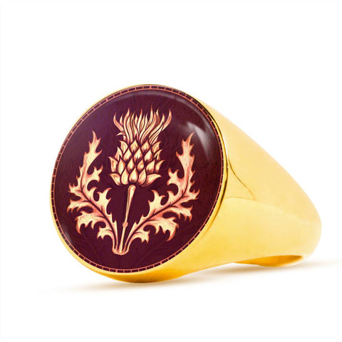 Image of Lonely Scottish Thistle Gold/Silver Ring | Special Custom Design