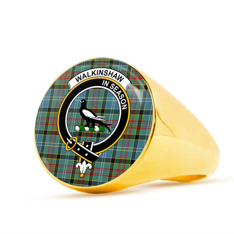 Walkinshaw Tartan Crest Ring Th8