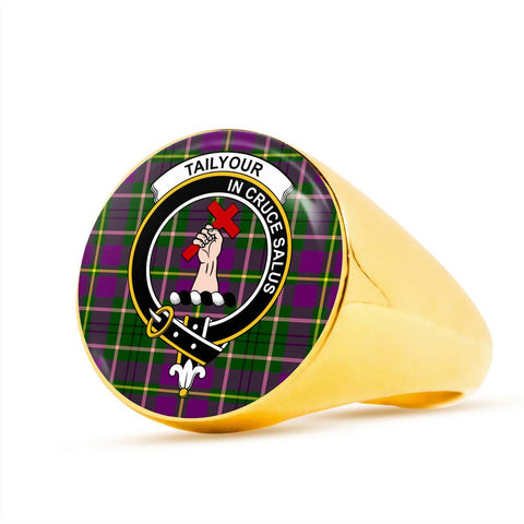 Taylor Tartan Crest Ring Th8
