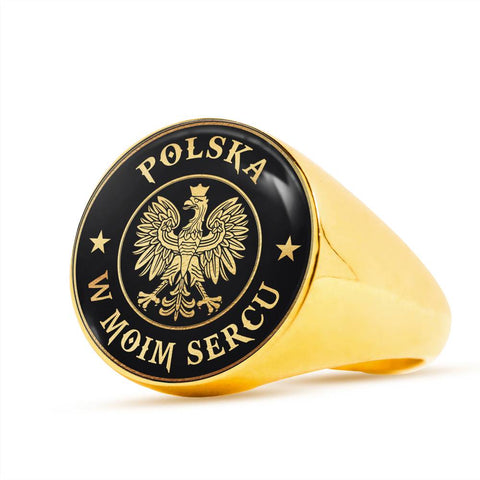 Poland In My Heart Gold/Silver Ring | Special Custom Design