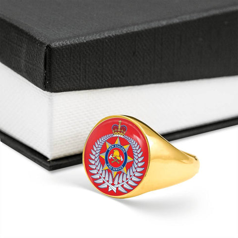 Image of New Zealand Firefighter Crest Ring K4
