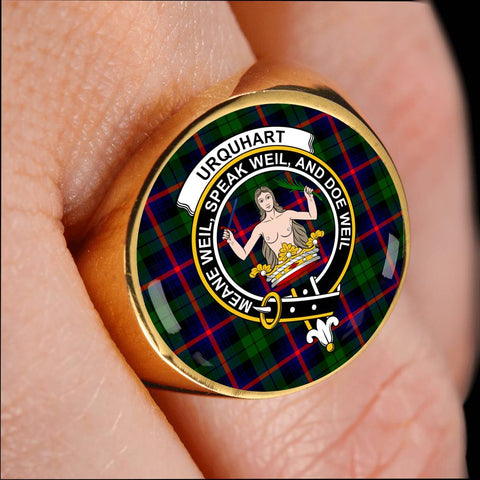 Urquhart Modern Tartan Crest Ring Th8