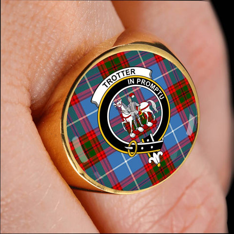 Trotter Tartan Crest Ring Th8