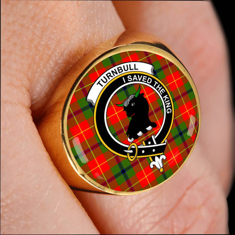 Turnbull Tartan Crest Ring Th8