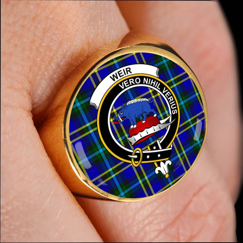 Weir Modern Tartan Crest Ring Th8