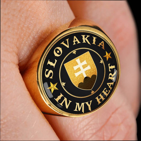 Slovakia in My Heart Gold/Silver Ring A7