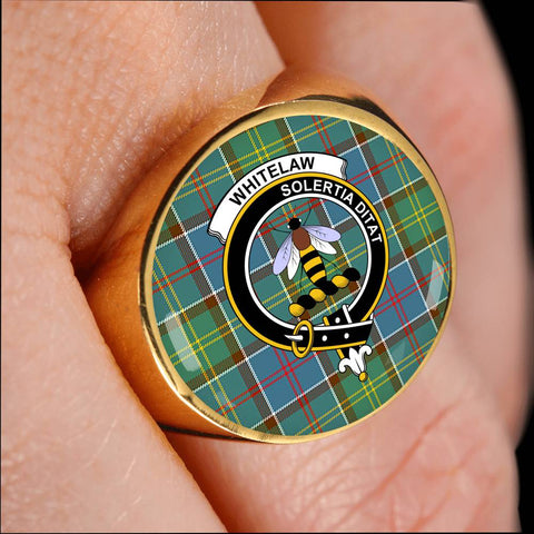 Whitelaw District Tartan Crest Ring Th8