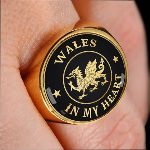 Image of Wales In My Heart Gold/Silver Ring | Special Custom Design