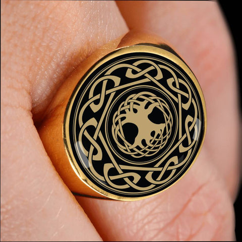 Celtic Tree Pattern Crest Ring,Celtic Tree Ring, celtic ring, celtic tree, celtic pattern