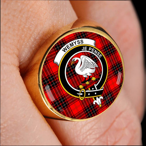 Wemyss Modern Tartan Crest Ring Th8