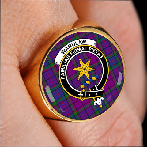 Wardlaw Tartan Crest Ring Th8