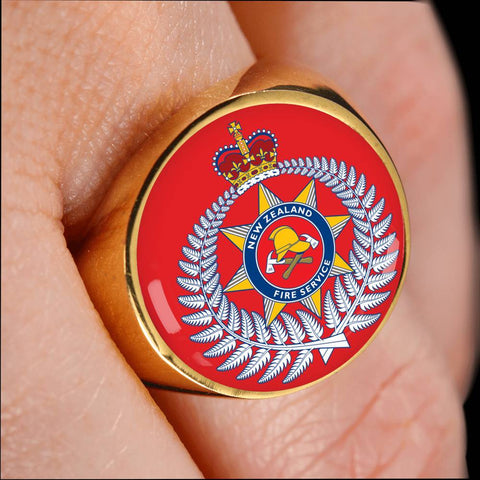 Image of new zealand fire, ring, rings, crest ring, jewelry, jewelries, online shopping, accessories, accessory, cyber monday, black friday, new zealand ring, firefighter ring, 1sttheworld, firefighting crest