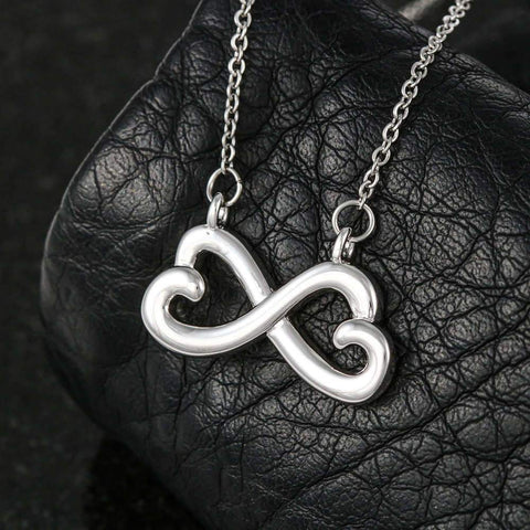 "Husband to Wife: ""Last Breath"" Infinity Necklace in White Gold A7"