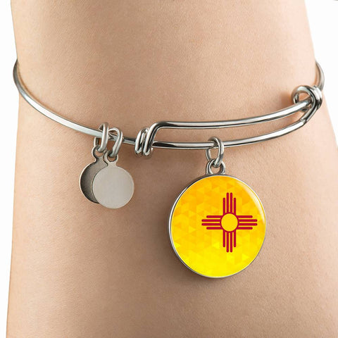 New Mexico State Circle (Necklace/Bangle) - Crystal Flag A1