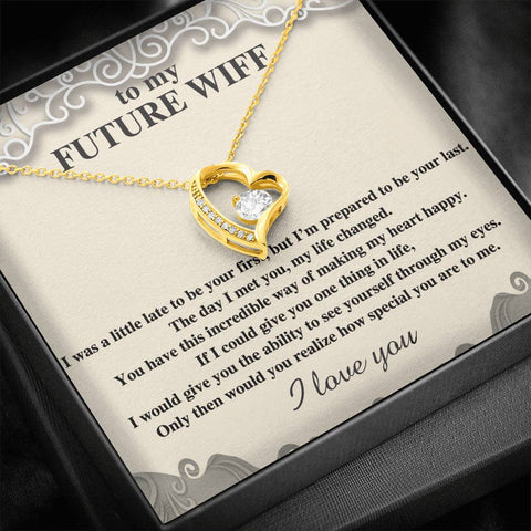 To My Future Wife Necklace, Engagement Gift for Future Wife , Love from Future Husband A777
