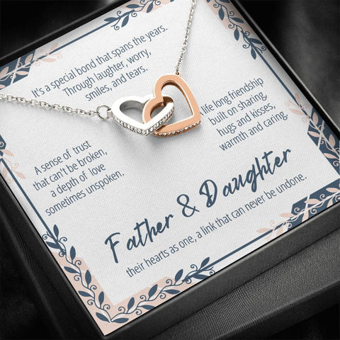 Father And Daughter Necklace #IH301 A7