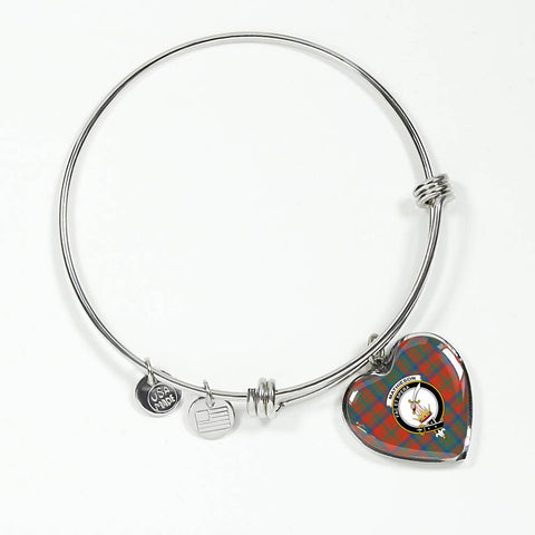 Image of Mathieson Ancient Tartan Silver Bangle - Bn
