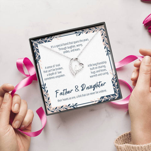 Father And Daughter Necklace #FL301 A7