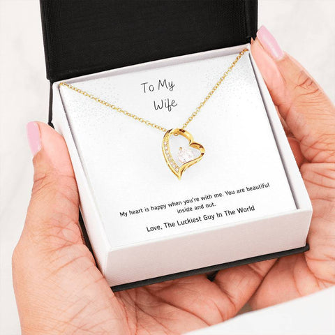 To My Wife | Alluring Heart Necklace A7