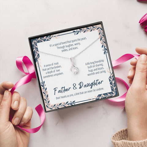 Father And Daughter Necklace #AB301 A7