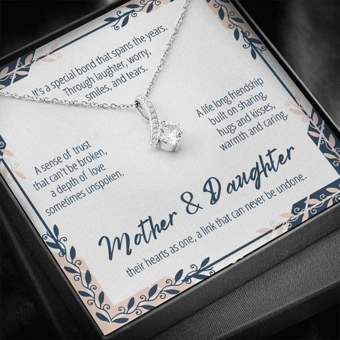 Mother And Daughter Necklace #AB302 A7