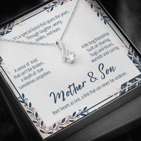 Mother And Son Necklace #AB303 A7